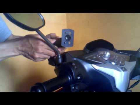 Memasang Holder Hp di Spion Motor