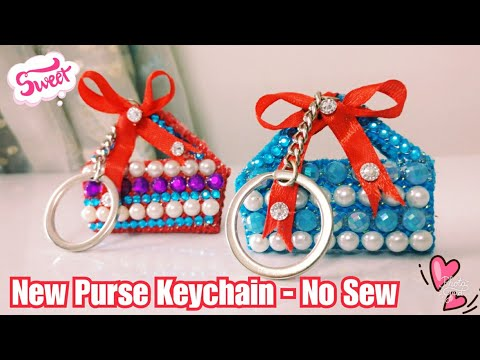 How To Make Purse Keychain - No Sew | DIY Purse Keychain at home