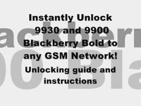 UNLOCK 9900 & 9930 - How to Unlock Blackberry Bold 9900 & 9930 by MEP Unlock Code