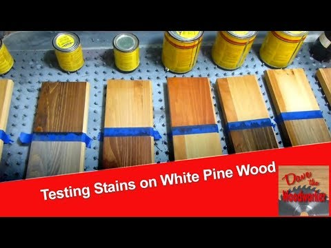 Testing Stains on White Pine wood