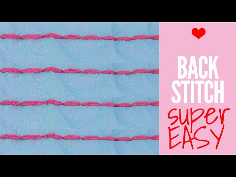 How to Backstitch: Easy Hand Stitching for Beginners