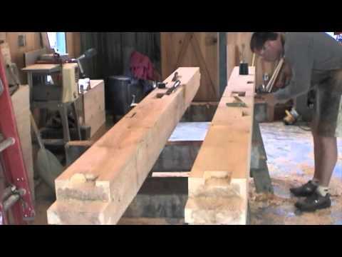 timberframe cutting and raising.m4v
