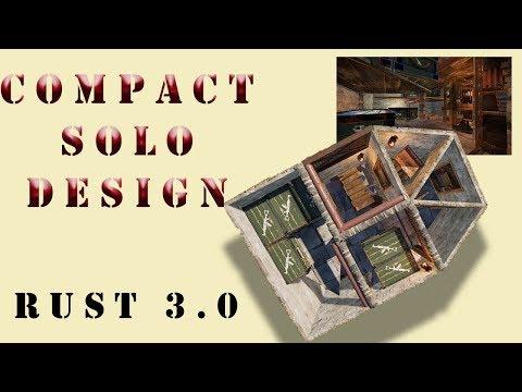 Compact Solo Base Design I Rust Build 3 I Base Design Tutorial