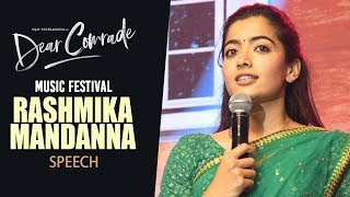 Rashmika Mandanna Speech | Dear Comrade Music Festival | Vijay Deverakonda | Bharat Kamma |