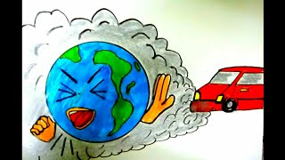 Save Trees Save Earth Colorful Drawing Step By Step Save Nature