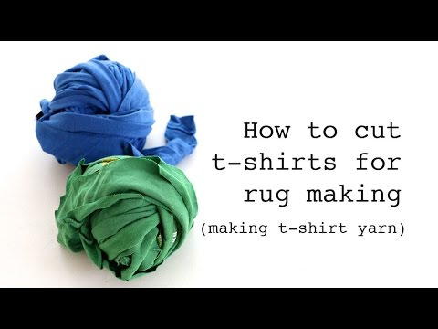 How to Cut T-Shirts for Rug Making (Making T-Shirt Yarn)