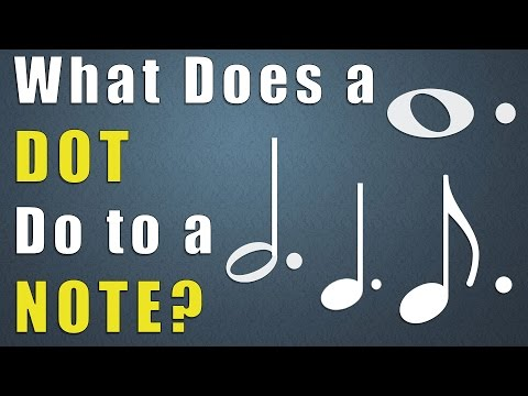 What Does a Dot do to a Note? Music Theory Lessons