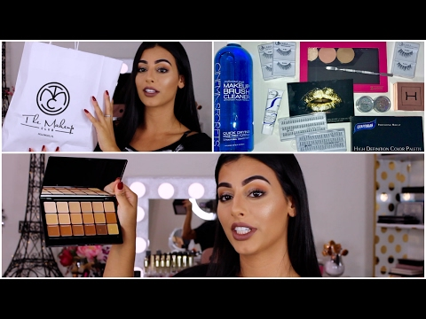 PRO MAKEUP ARTIST HAUL  | FOUNDATION, LASHES, GLITTER & MORE!