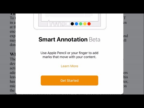 How to use Smart Annotation in Pages update