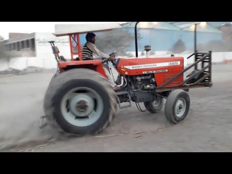 Massey MF 385 Tractor Wheeling and Drifting, Tractor Drifting in Madina Sugar Mill