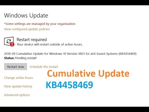 Cumulative Update for Windows 10 Version 1803 for x64 based Systems (KB4458469)