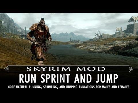 Skyrim Mod Feature: Run Sprint and Jump - Animation Mod