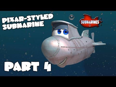 Blender Tutorial Series - Pixar-style Submarine - Part 4 - Setting up the eyes