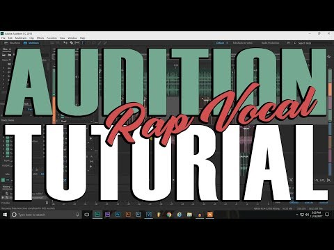 Adobe Audition 2k18 Rap Vocal Mixing Tutorial - How I mixed