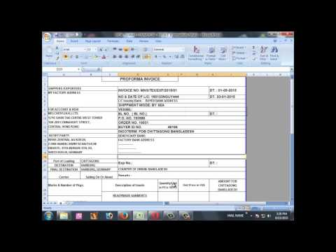 HOW TO MAKE COMMERCIAL INVOICE
