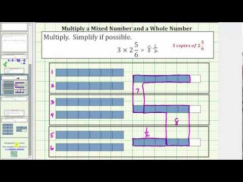 Determine the Product of a Whole Number and Mixed Number