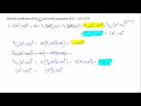 O levels math - Challenging binomial expansion question.