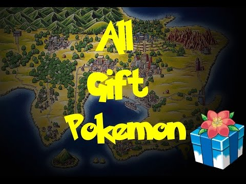 All Gift Pokemon (Pokemon Fire Red/Leaf Green)