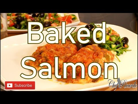 Healthy New Year Oven Baked Salmon And Salad After The Carb Christmas | Recipes By Chef Ricardo