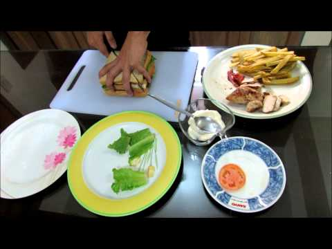 how to make easy CLUB HOUSE SANDWICH