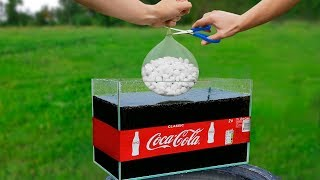 Download Experiment: Giant Mentos Balloon Put In Coca Cola Video