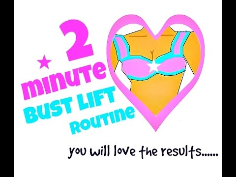 Home Workout-  2 Minute Bust Lift Routine (naturally lift your bust with these exercises)