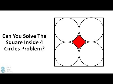 Can You Solve The Square Inside 4 Circles Problem?