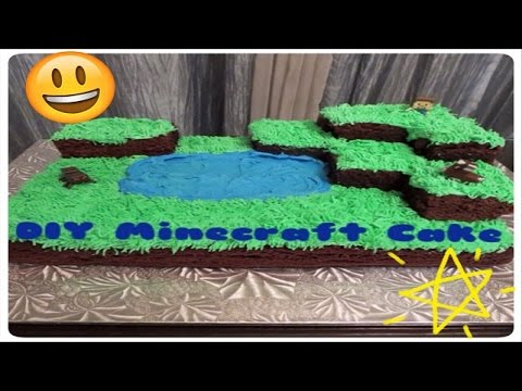 HOW TO MAKE A Minecraft Cake Village | Cake Tutorial For Beginners