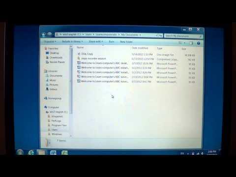 Windows 7   Navigation Pane on left side of files explorer