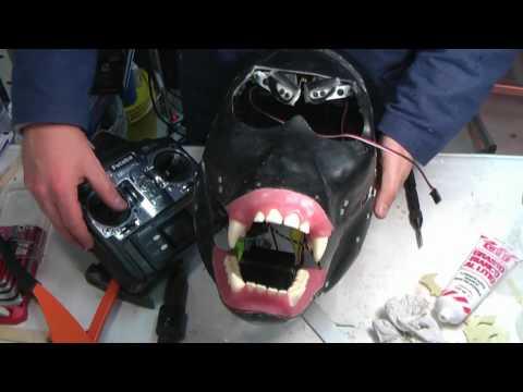 Animatronics tutorial - Chapter 9 - The jaw servo