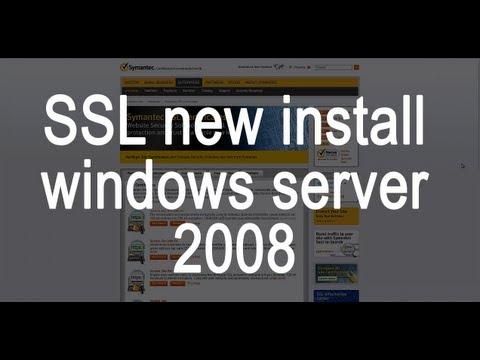 New SSL Certificate install on a Windows server 2008
