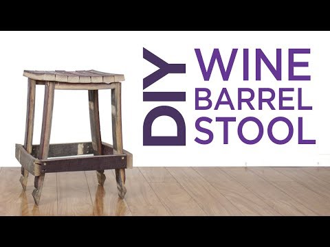 Simple Oak Wine Barrel Stool | 26 | The Cutting Bored
