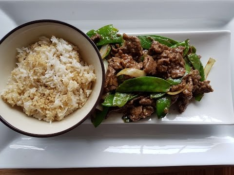 Beef with snow peas stir fry-  How to tenderize / velveting beef