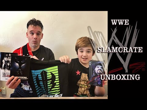 wwe slamcrate unboxing | Father and Son Fun