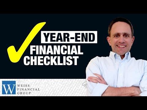 Year-End Financial Checklist - Money Planning Tips 2017