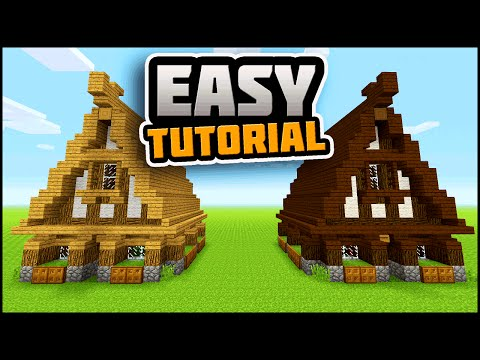 Minecraft: Simple, Easy, Efficient Survival House Tutorial | How To Make A Small Survival House!