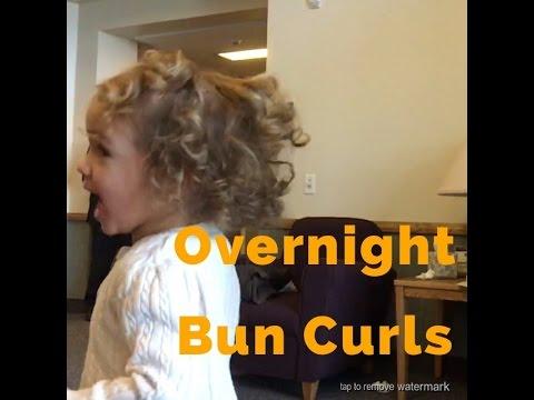 NO HEAT OVERNIGHT BUN CURLS!
