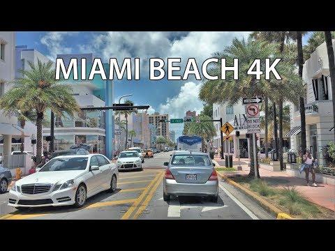 Driving Downtown - Miami Beach Florida USA 4K