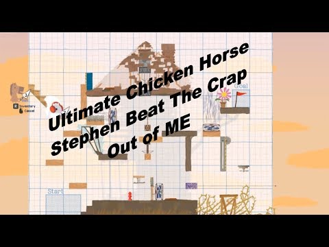 Ultimate Chicken Horse  Stephen Beats the pants off me Gameplay Commentary