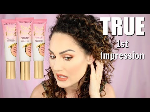 TOO FACED PEACH PERFECT FOUNDATION HONEST REVIEW | The Glam Belle