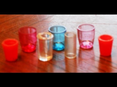 Cups How to NOT Make Miniature Cups, tumblers, glasses, glass for Dollhouse