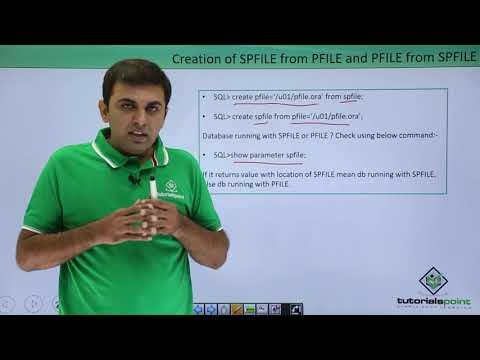 Oracle DB - SPFILE & PFILE