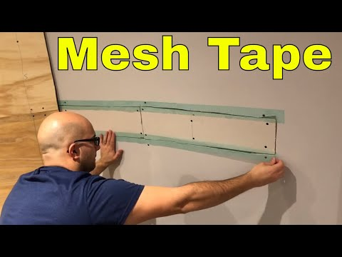 Using Mesh Tape For Drywall Repair-DIY