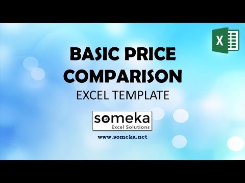 Price Comparison Template for Excel
