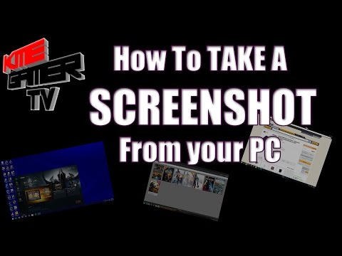 HOW TO TAKE A SCREENSHOT IN GAMES or DESKTOP