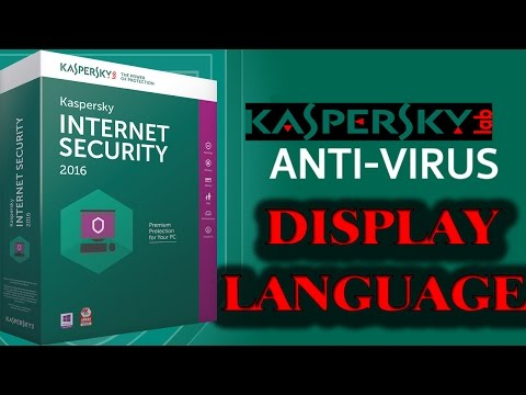 how to change kaspersky display language