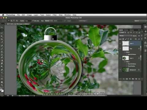 Creating a Christmas bauble  in Photoshop