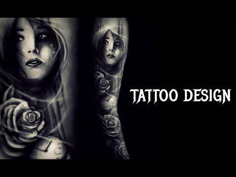 SLEEVE TATTOO DESIGN - SPEEDPAINT