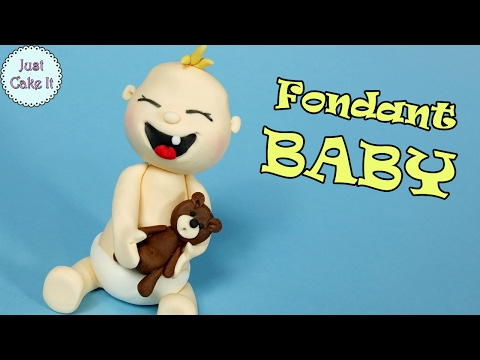 How to make fondant baby cake topper! Cake decorating for begginers