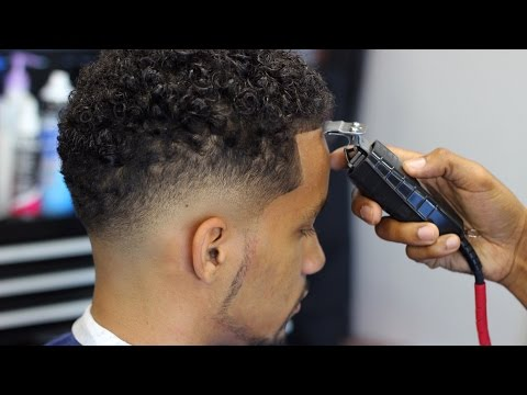 HOW TO CUT A LOW BALD FADE with CURLY TOP